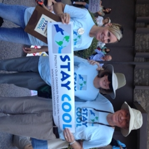 March 21, 2014 - San Diego People's Climate March (from left to right: Sarah Benson, Peg Engel, David Engel)